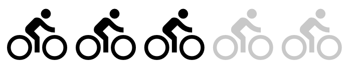 Itinéraire comprenant des dénivelés conséquents, une pratique régulière du vélo (une sortie par semaine) est requise.